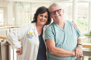 Nursing runs in the family for University of Michigan Health System nurses Lori Slope, R.N., and her father, an operating room nurse Dan McGraw, R.N.