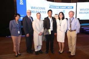 Dr. Gary Hammer (third from left) is shown with other participants at the 2016 Endocrine Summit in Mumbai, India