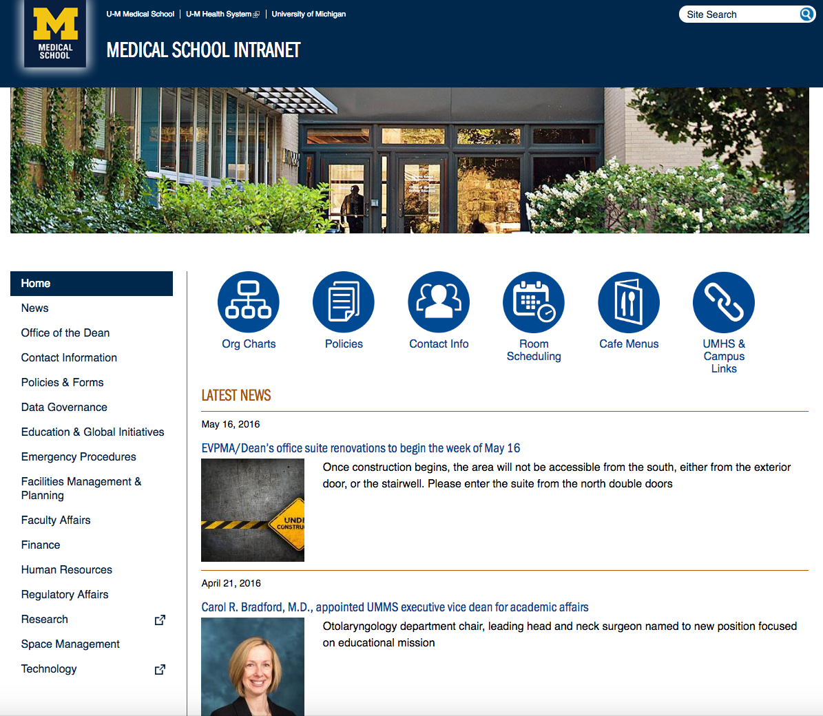 MSA_Intranet_Screen_Shot