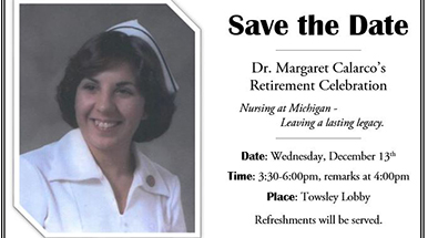 save the date margaret calarco ph d r n nea bc retirement