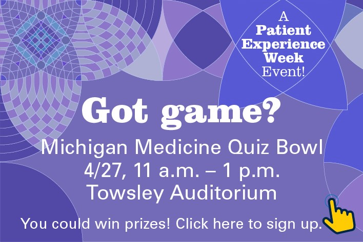 Love jeopardy participate in michigan medicine quiz bowl do you love jeopardy find yourself answering all the questions during trivial pursuit then come on down and participate in the first michigan medicine solutioingenieria Images