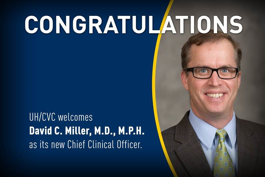 David C  Miller, M D , M P H , named chief clinical officer