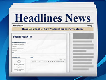 Extra! Extra! Headlines update includes 'submit an entry' function, improved event search