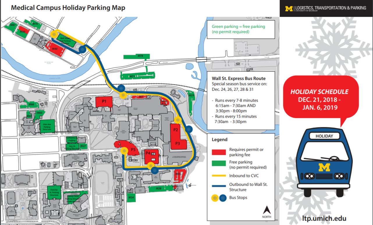 Plan Ahead Holiday Parking And Transit Schedules Michigan