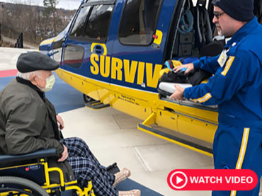 Survival Flight makes a new friend in cancer patient