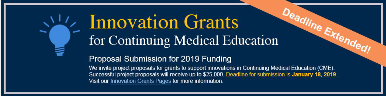 Deadline extended: Submit proposals for innovations grants