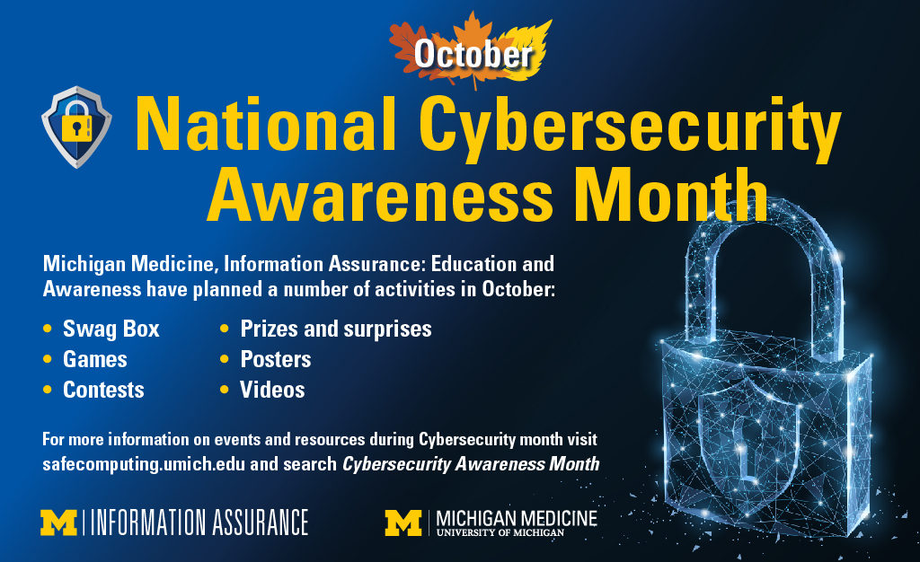 It S Personal Cybersecurity Is Essential Both At Home In The Workplace Michigan Medicine Headlines