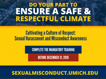 Sexual misconduct training deadline approaches