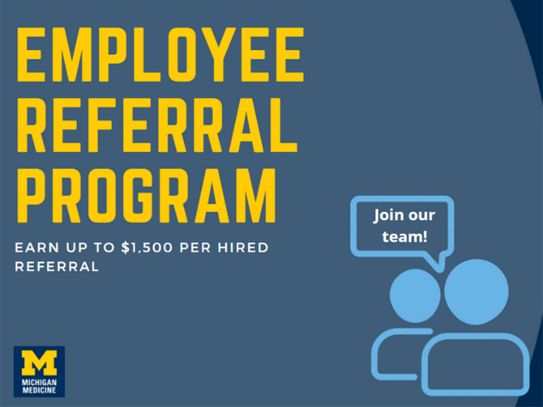 Employee Referral Program: Earn up to $1,500 per hired referral.