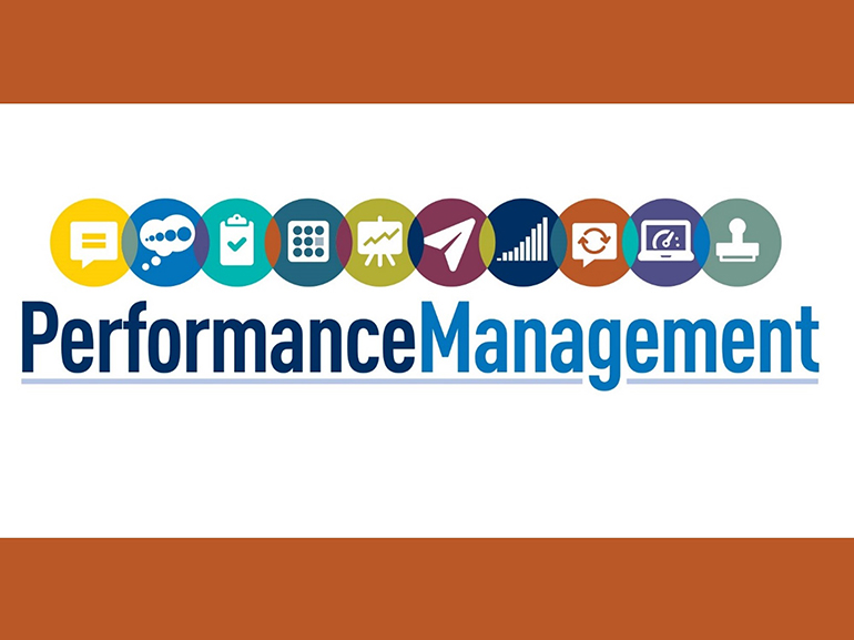 Performance Management with colorful icons representing various workflows.